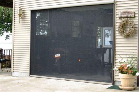 retractable garage door screen retractable garage screen for and single garages