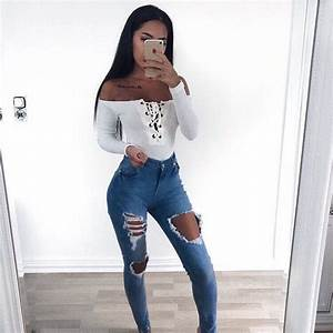 Best 25+ Ripped jeans outfit ideas on Pinterest | Outfit goals Ripped jeans and Cheap ripped jeans
