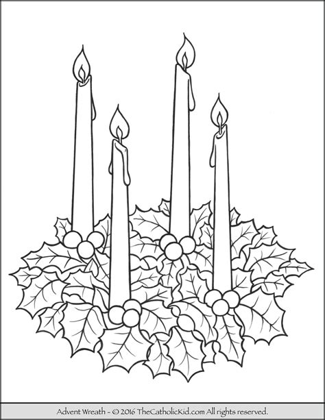 Advent Wreath Coloring Page | Advent wreath, Advent