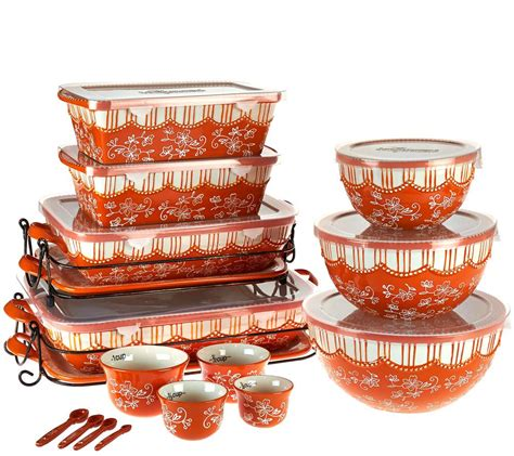 qvc kitchen clearance temp tations floral lace 20 bakeware set page 1