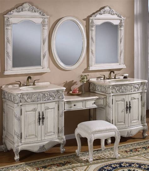 bathroom vanities with makeup area