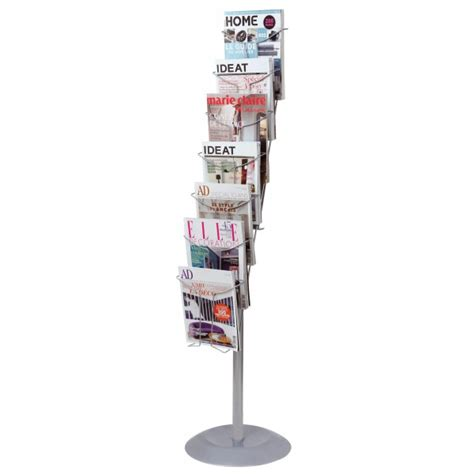 alba chrome floor stand document display   tier eoffice