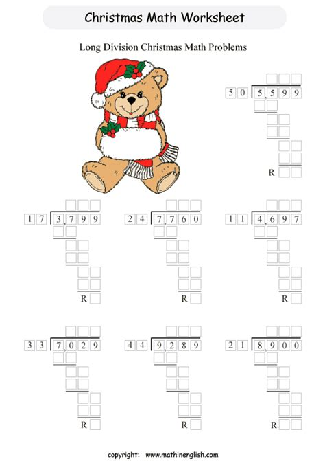 division holiday worksheets printable x division worksheet for grade 5 students