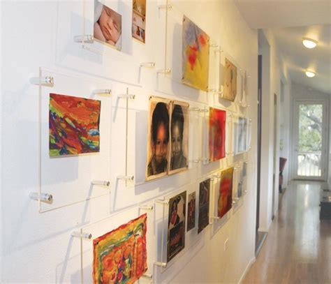 Large wall mounted acrylic glass photo frame