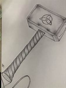 Thor's Hammer | My Drawings | Pinterest | Thors hammer and ...