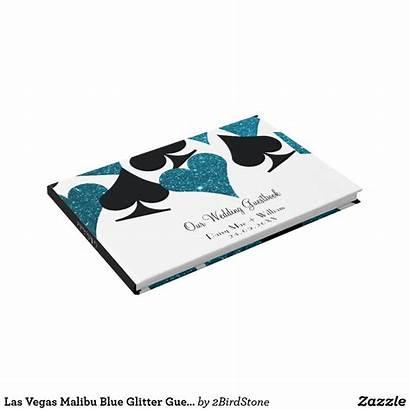 Vegas Zazzle Malibu Glitter Guestbook
