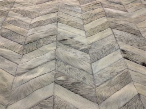 Chevron Cowhide Rug by Made To Order White Grey Chevron Cowhide Patchwork Rugs