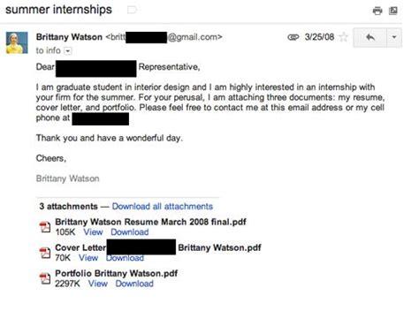 How To Send Resume Via Email For Internship by Scoring Your Design Internship Paperblog