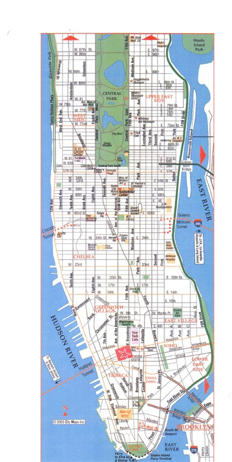 map  manhattan metro map