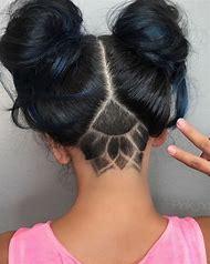 Nape Undercut Design for Hairstyle Women Long H…