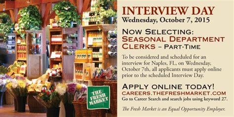 seasonal clerk openings in naples fl grocery market