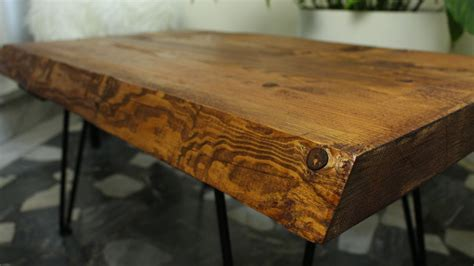how to build a coffee table rustic coffee table with hairpin legs