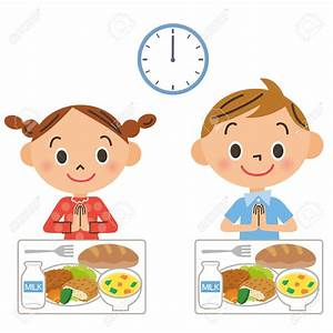 Eat Lunch At School Clipart - ClipartXtras