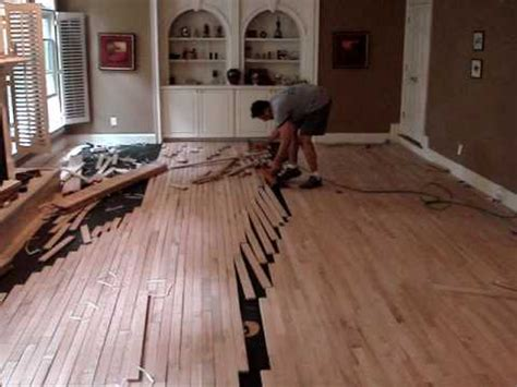 Hardwood Floor Installation Youtube