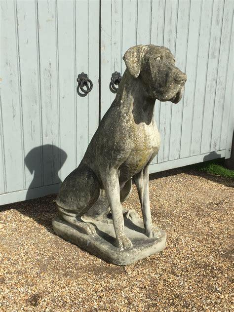 large great dane statue    vintage garden company