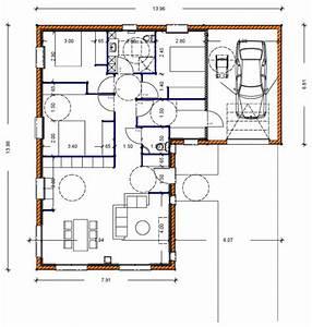 plan maison 80 m2 plain pied plan maison 3 chambres With plan maison 80 m2 plain pied