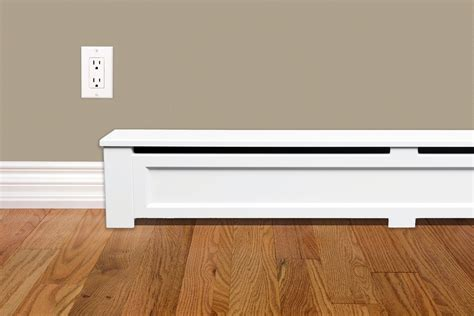 1 open floor plans shaker style 6 ft wood baseboard heater cover kit in
