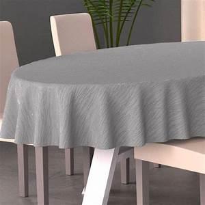 Nappe Pour Table : nappe ovale l230 cm glitter gris linge de table eminza ~ Teatrodelosmanantiales.com Idées de Décoration