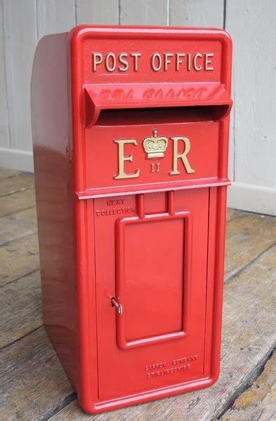 red royal mail reclaimed letter box erii elizabeth style