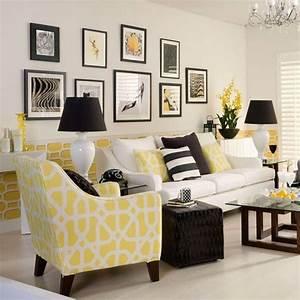 Wohnideen Wohnzimmer Gelb Schwarz Wei Retro Wohnzimmer