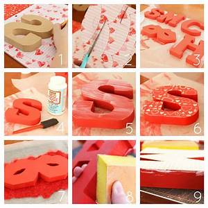 mod podge wooden letters for valentine39s day With scrapbook wooden letters