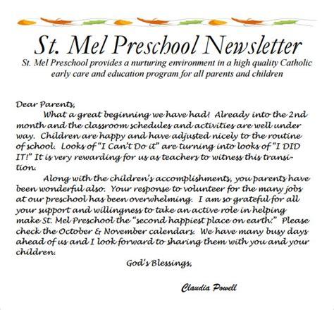 sample preschool newsletter 5 free for word pdf 780 | Preschool newsletter templates free