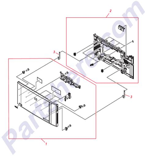 RC1-9043-000CN Band, door for HP HP Colo - view part diagram