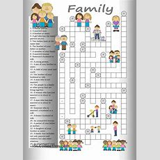 Crossword Family  English Language  Pinterest  Studentcentered Resources, Printables And