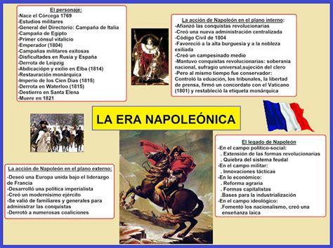 Napoleon Bonaparte Resumen Corto by Cuadros 243 Pticos Sobre El Per 237 Odo Napole 243 Nico Cuadro Comparativo