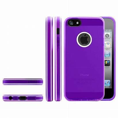 Iphone Violette Coque Stripes 5s Clubcase Tpu