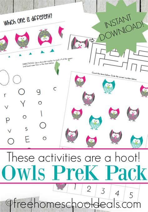 free owls preschool printable pack instant 194 | 1aff 69
