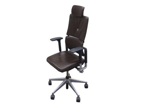 steelcase please cuir marron adopte un bureau