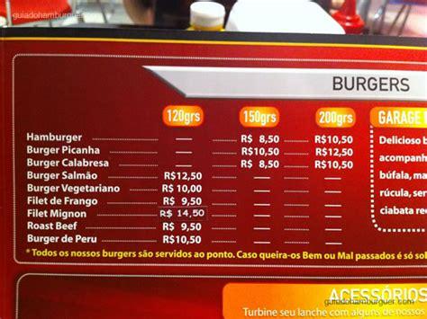 Garage Burger  Vila Prudente  Guia Do Hambúrguer