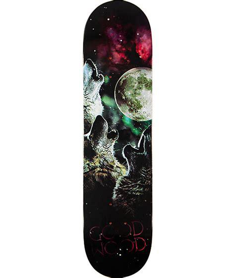 goodwood wolf moon  skateboard deck  zumiez pdp