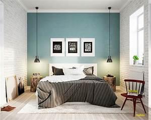 Grau Blaue Wand : 1001 ideen f r skandinavische schlafzimmer einrichtung und gestaltung ~ Watch28wear.com Haus und Dekorationen