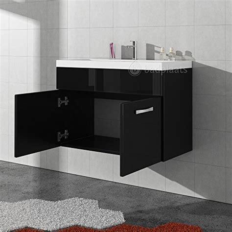 badezimmer unterschrank schwarz badezimmer badm 246 bel paso 01 80 cm waschbecken hochglanz