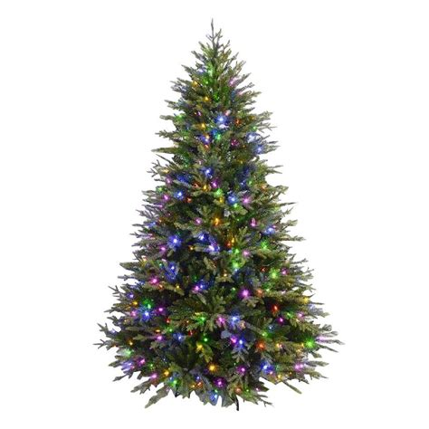 fake tree with lights 7 5 ft evergreen quick set artificial christmas tree with