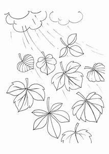 Feuilles D Automne à Imprimer : coloriage de feuilles tombantes d 39 automne ~ Nature-et-papiers.com Idées de Décoration