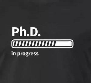 PhD in progress T-Shirts Men's Premium T-Shirt - black ...