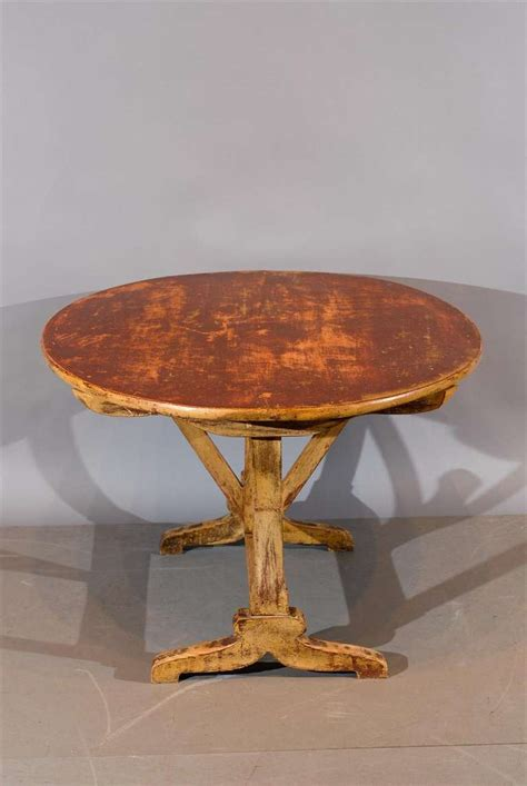 wine tables for rustic painted oval tilt top wine tasting table at 1554