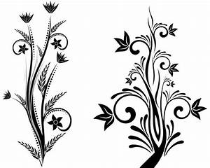 Simple Flower Designs Black And White | Free Download Clip ...