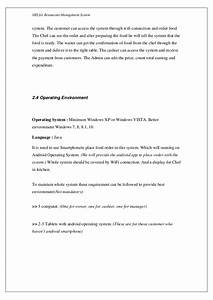 software requirements specification for restaurant With srs document for payroll management system
