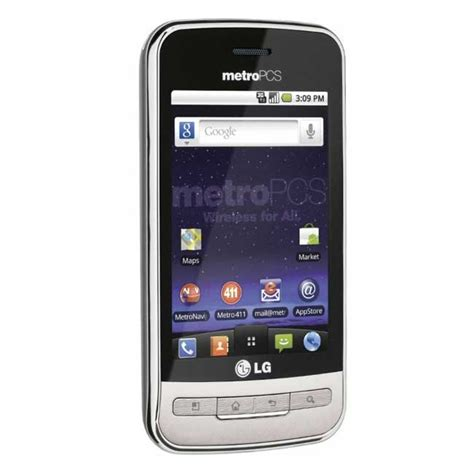 metro pcs phone new lg optimus m ms690 metro pcs android phone touch