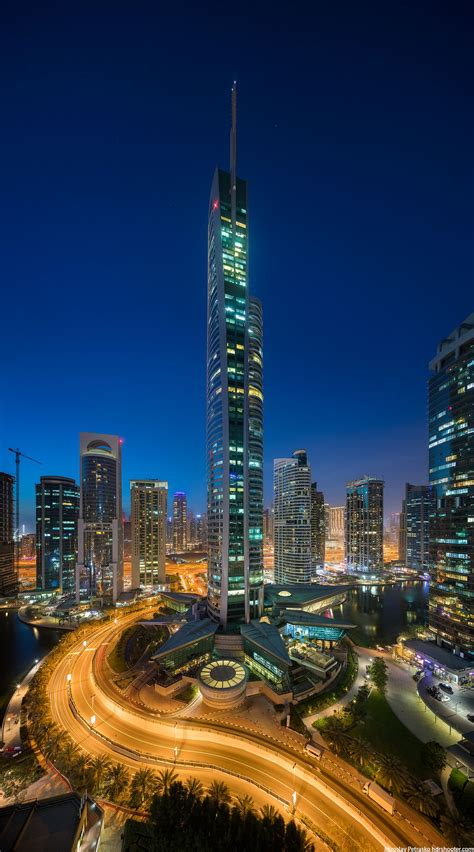 Almas tower, Jumeirah lake towers, Dubai, UAE - HDRshooter