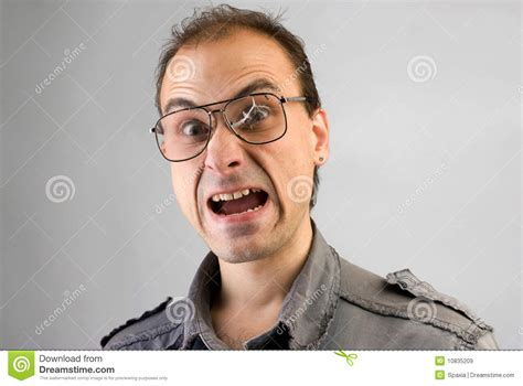 Screaming Funny Man Royalty Free Stock Images