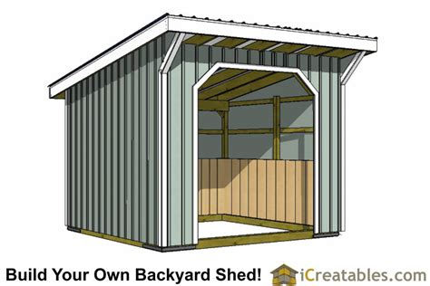 loafing shed plans 12x20 house design and decorating ideas