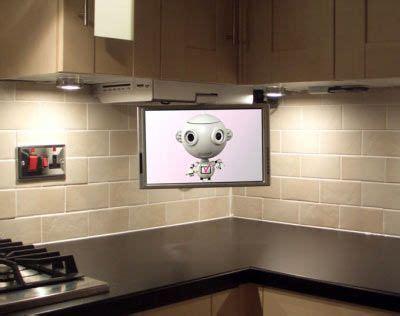 flip   cabinet tv  kitchen  corner