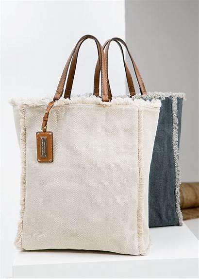Shopper Canvas Bag Bags Mango Lona Natural