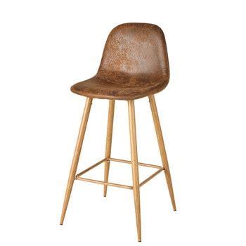 chaise de bar vintage chaise de bar et tabouret maisons du monde