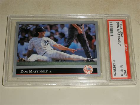In calculating the value of sports cards, condition is crucial. Auction Prices Realized Baseball Cards 1992 Leaf Don Mattingly